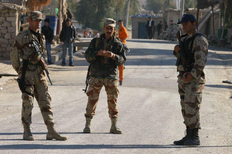 irakiska soldater fotografering för bildbyråer