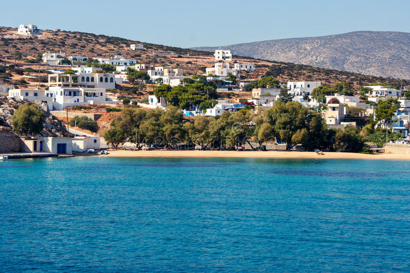 Iraklia Cyclades Grecja obraz stock