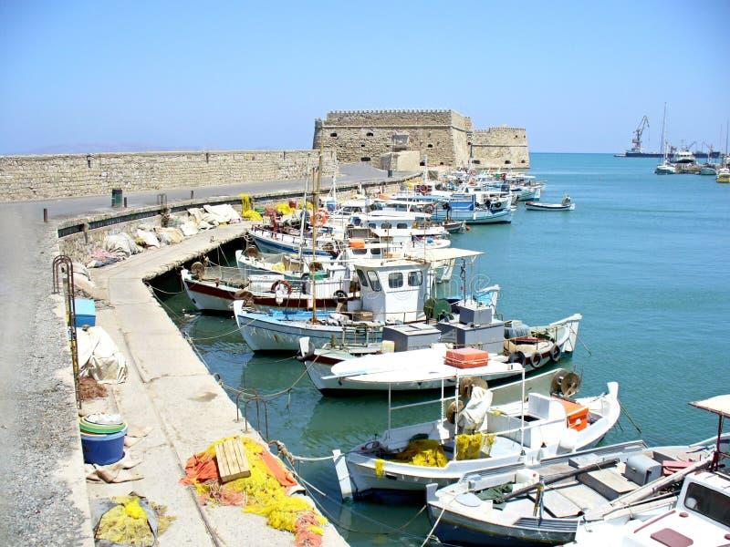 iraklion portu obrazy royalty free