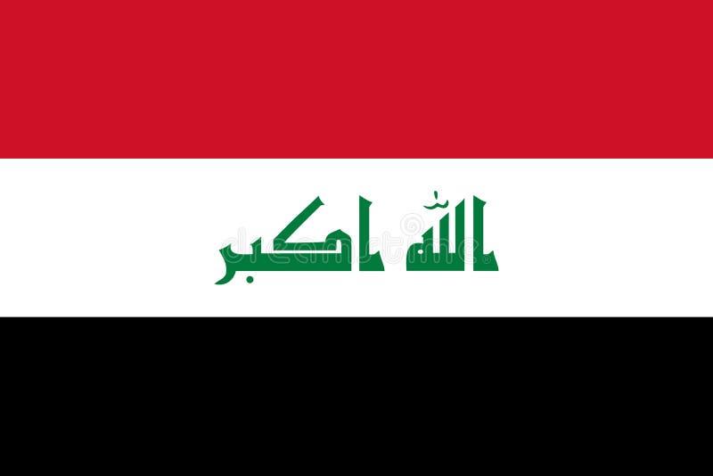 Iraks flagga arkivbilder
