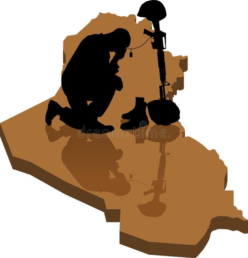 Iraku upaść royalty ilustracja