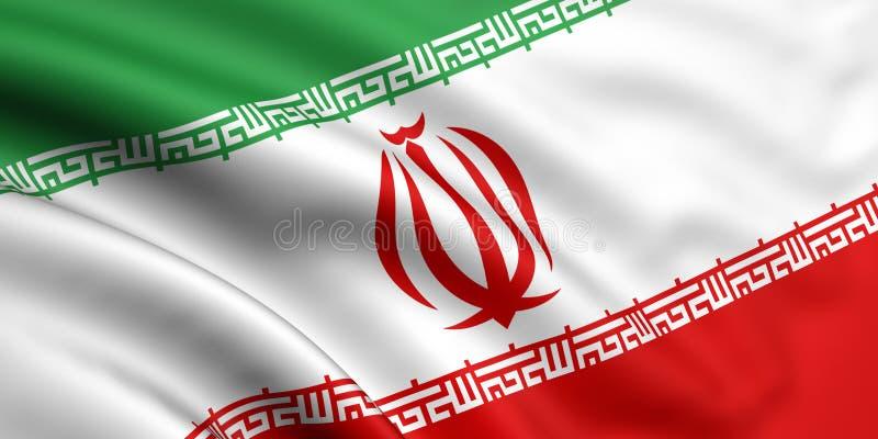 Iran bandery ilustracja wektor