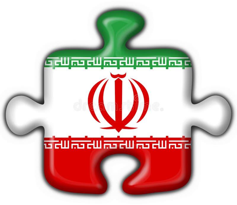 Iran Button Flag Puzzle Shape Stock Illustration Illustration Of