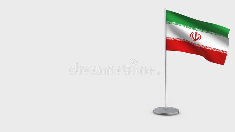 Iran 3D falowania flagi ilustracja royalty ilustracja