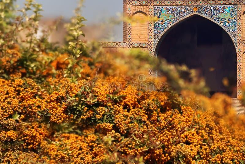iran Een deel van Moskee bij het vierkant van naqsh-E Jahan in Isphahan 17de eeuw Oud Perzië royalty-vrije stock fotografie