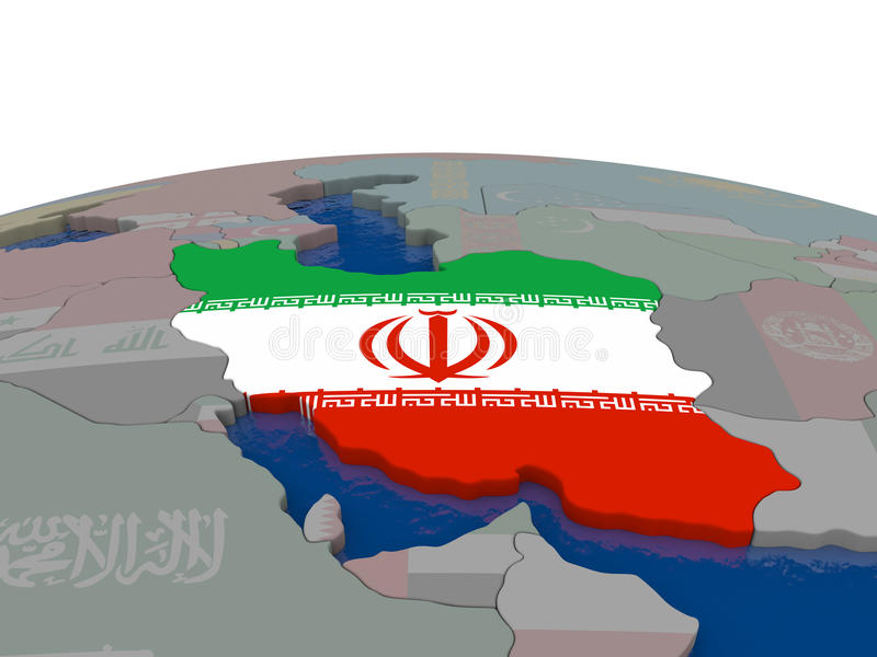 Download Iran With Flag Stock Illustration - Image: 83716228