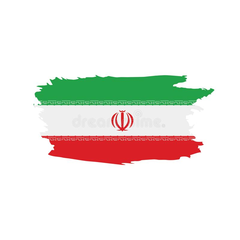 Iran flag, vector illustration. On a white background stock illustration