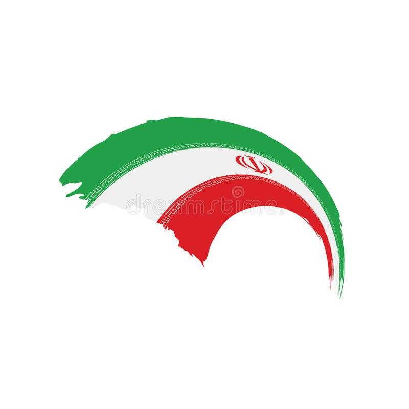 Iran flag, vector illustration. On a white background vector illustration