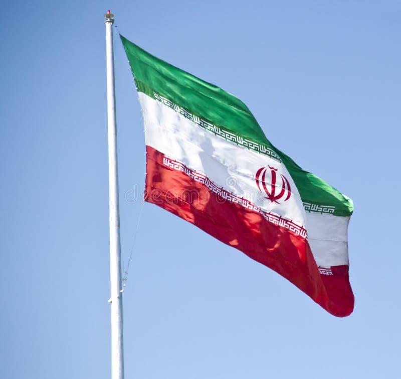 Iran flagga royaltyfri fotografi