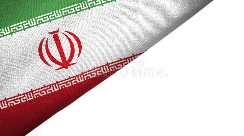 Iran flagi lewa strona z puste miejsce kopii przestrzenią royalty ilustracja