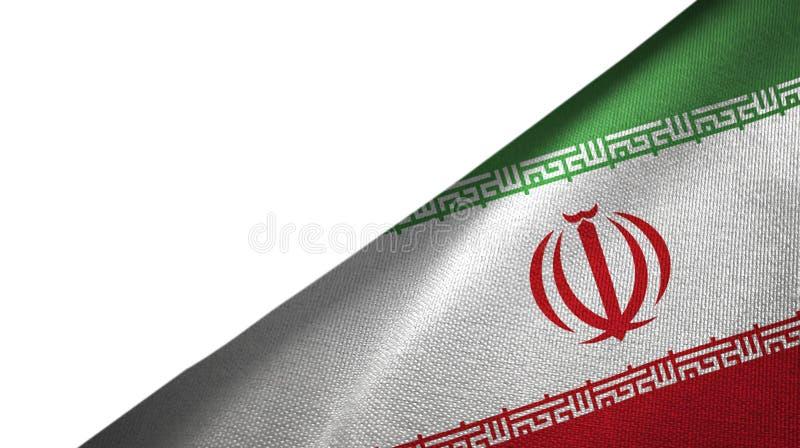 Iran flagi prawa strona z puste miejsce kopii przestrzenią ilustracja wektor