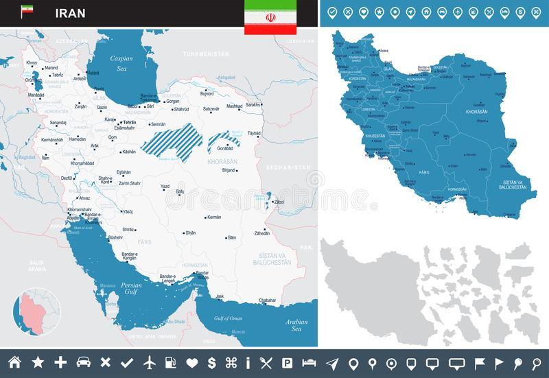 Iran infographic map detailed vector illustration stock download iran infographic map detailed vector illustration stock illustration illustration of asia gumiabroncs Choice Image
