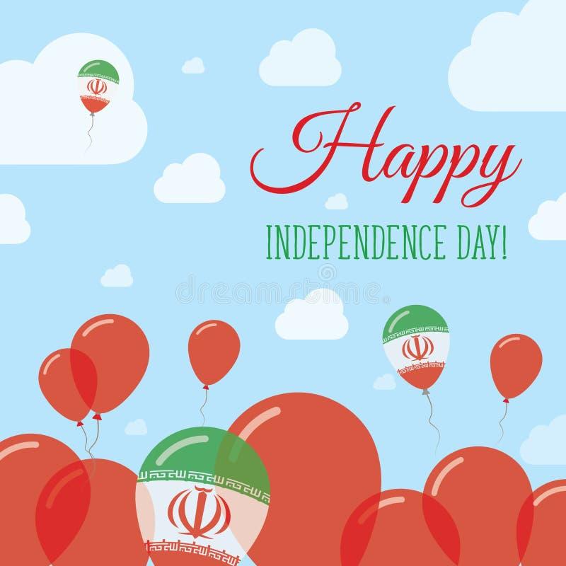 Iran, Islamska republika dnia niepodległości mieszkanie ilustracja wektor