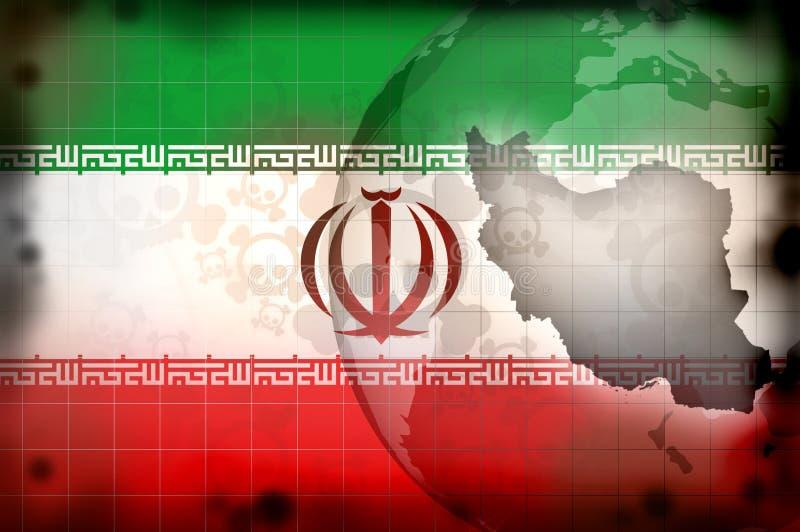Iran islamu konfliktu pojęcie ilustracji