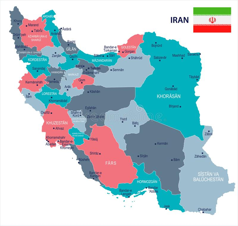 Download Iran Map And Flag