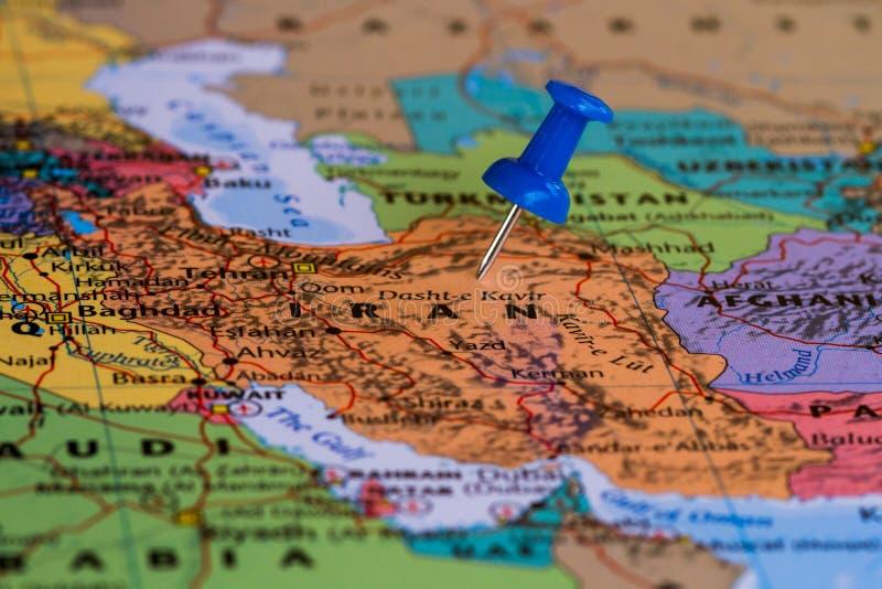 iran mapa zdjęcie royalty free