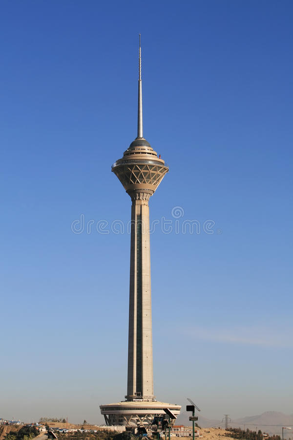 iran miladtehran torn royaltyfri fotografi
