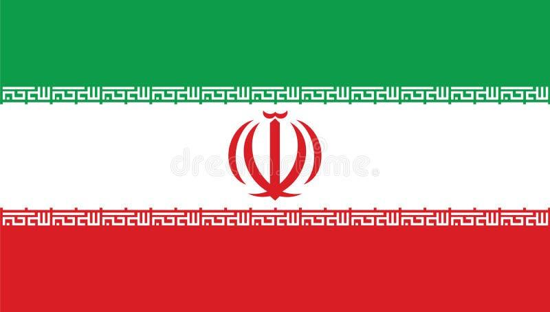 Iran nationsflagga royaltyfri illustrationer