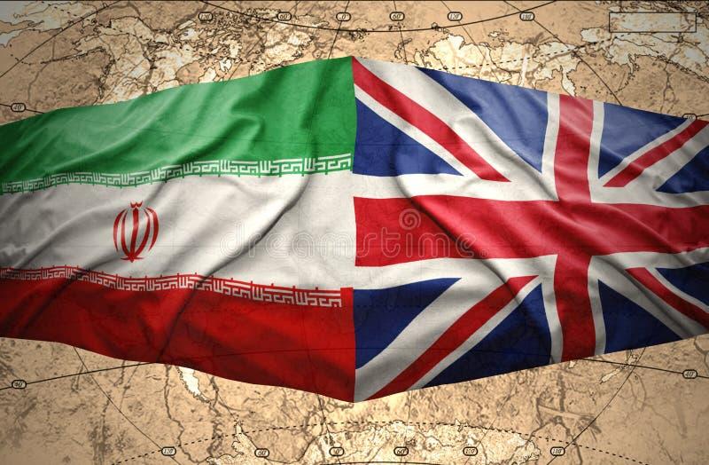 Iran och Förenade kungariket royaltyfria bilder