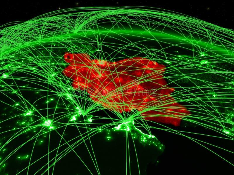 Iran på det gröna jordklotet vektor illustrationer