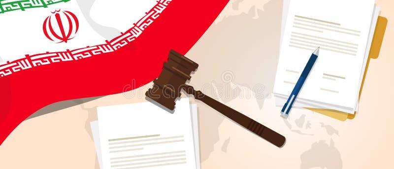 Iran prawa konstytuci osądzenia sprawiedliwości legalnego ustawodawstwa próbny pojęcie używać chorągwianego młoteczka papier, pió ilustracji