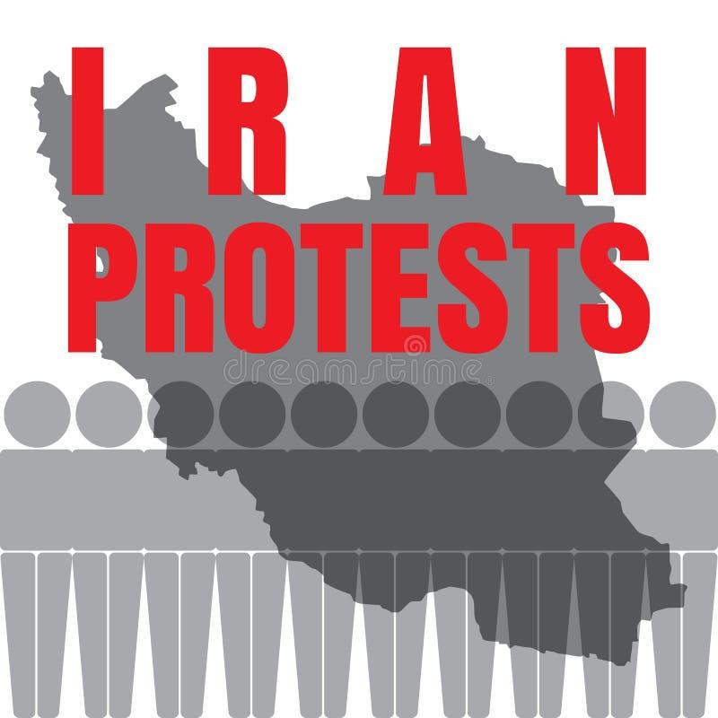 Iran protesteert Illustratie vector illustratie