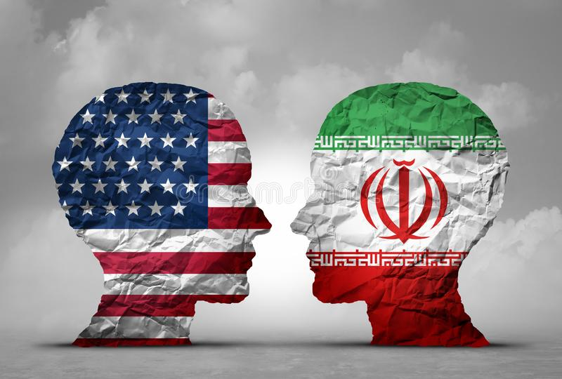 Iran USA spänningar vektor illustrationer