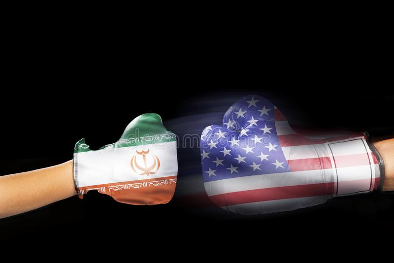 Iran versus Amerika royalty-vrije stock afbeelding