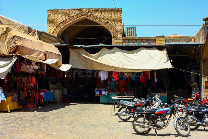 Iranian bazaar. Outside a iranian bazaar in Isfahan, iran stock photos