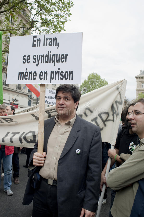 Download Iranian Demonstration, Paris, France Editorial Stock Image - Image: 14104704