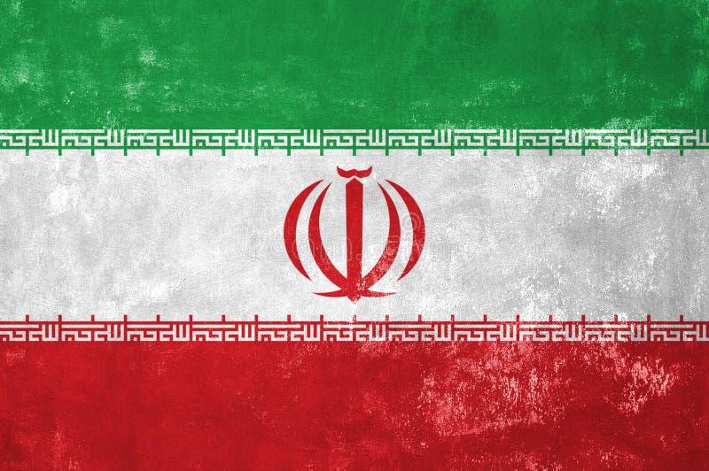 Iranian Flag. Iran - Iranian Flag on Old Grunge Texture Background stock photo