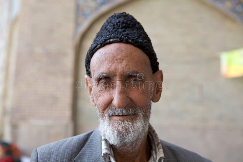 Iranian man. Old Iranian man with beard and mustache, Isfahan, Iran royalty free stock images
