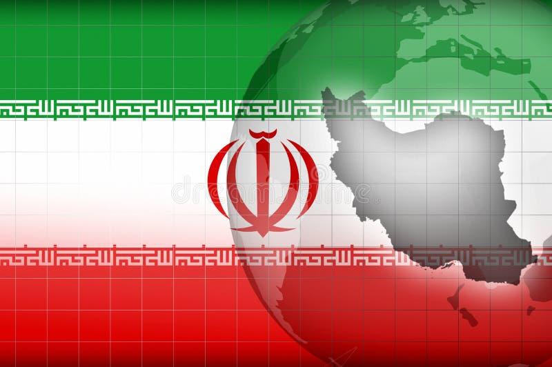 Download Iranian Map And Flag Background Stock Illustration - Illustration of presentation, islamic: 26012296