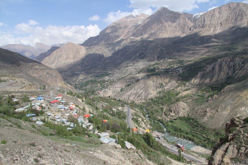 Iranian village. In mountain near Damavand, Iran royalty free stock images