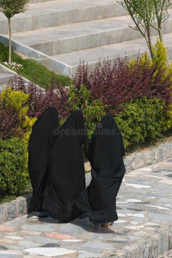 Iranian women. Image of three iranian women stock photo