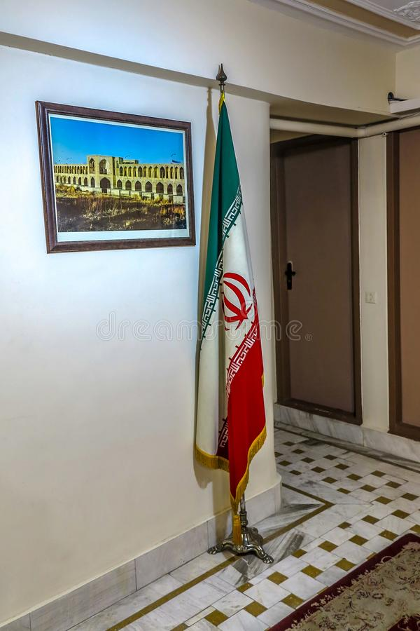 Iranischer Flaggen-Korridor lizenzfreie stockfotos