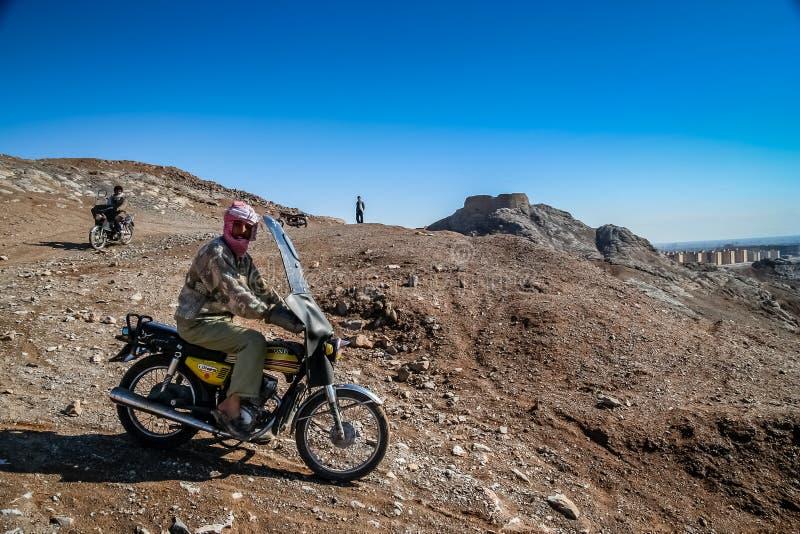 Iranska cyklister royaltyfri bild