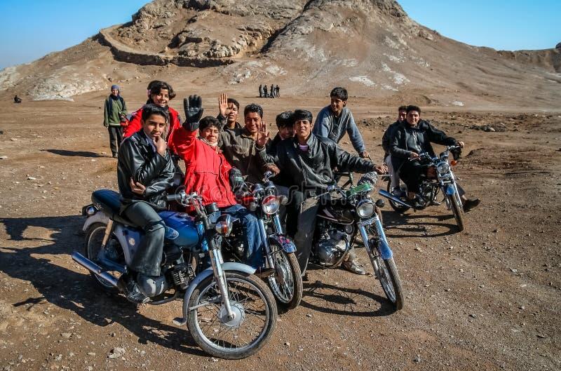 Iranska cyklister royaltyfria foton
