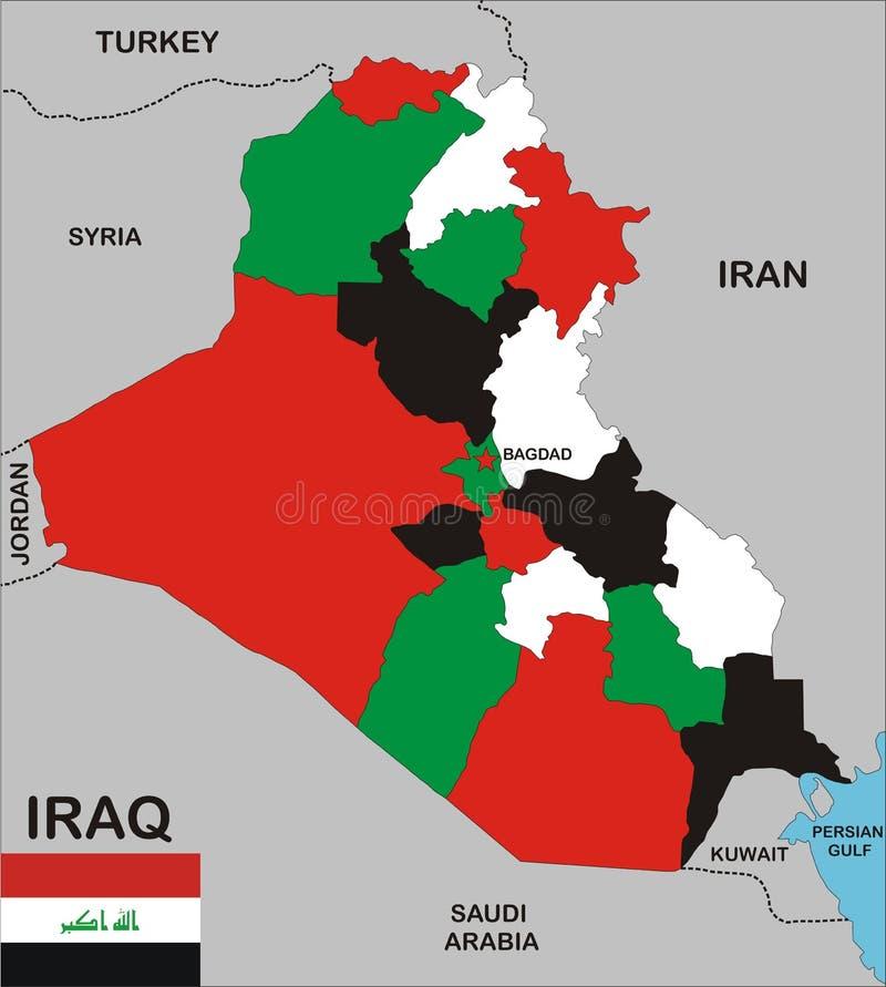 iraq översikt royaltyfri illustrationer