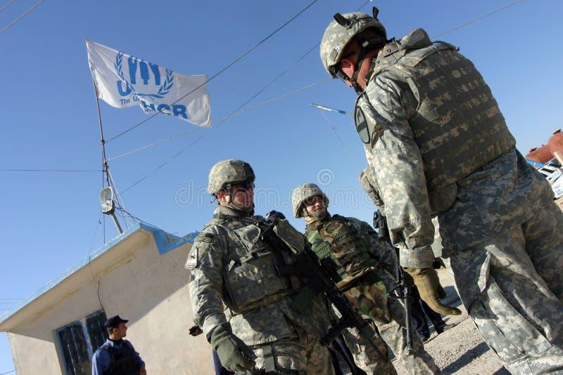 iraq żołnierze my obrazy stock