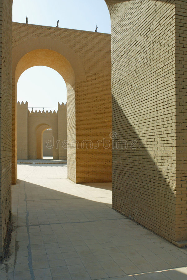 Iraq architecture. Image at shiny day royalty free stock images