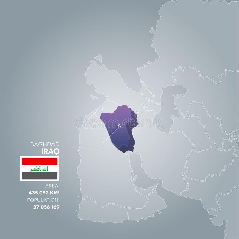 download iraq information map stock vector illustration of vector 96893779