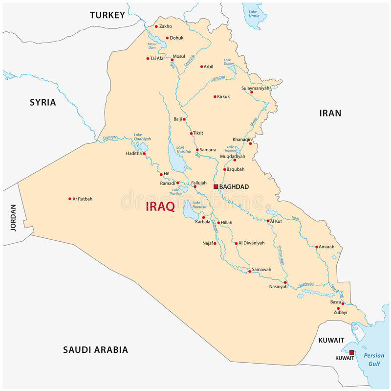 download iraq map stock illustration illustration of geographic 47424768