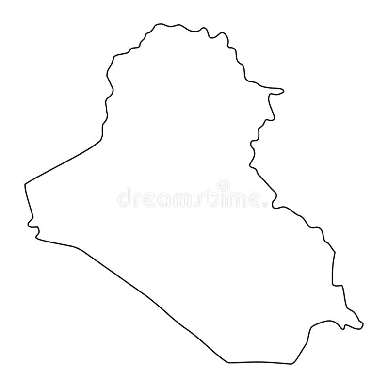 Iraq Map Outline Stock Illustrations – 555 Iraq Map Outline Stock