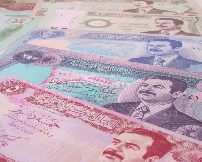 iraq pengar royaltyfri bild