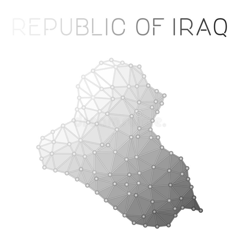 Iraq polygonal vector map stock image Image of iraq 103462007