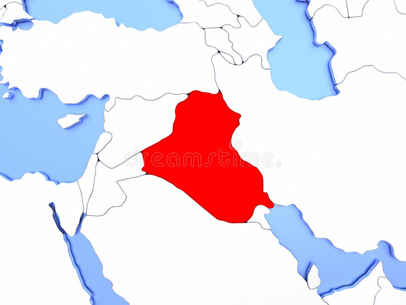 Iraq in red on map stock illustration illustration of iraq 86626989 map of iraq highlighted in red on simple shiny metallic map with clear country borders 3d illustration gumiabroncs Gallery