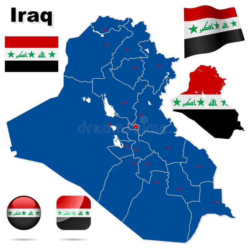 iraq set vektor illustrationer