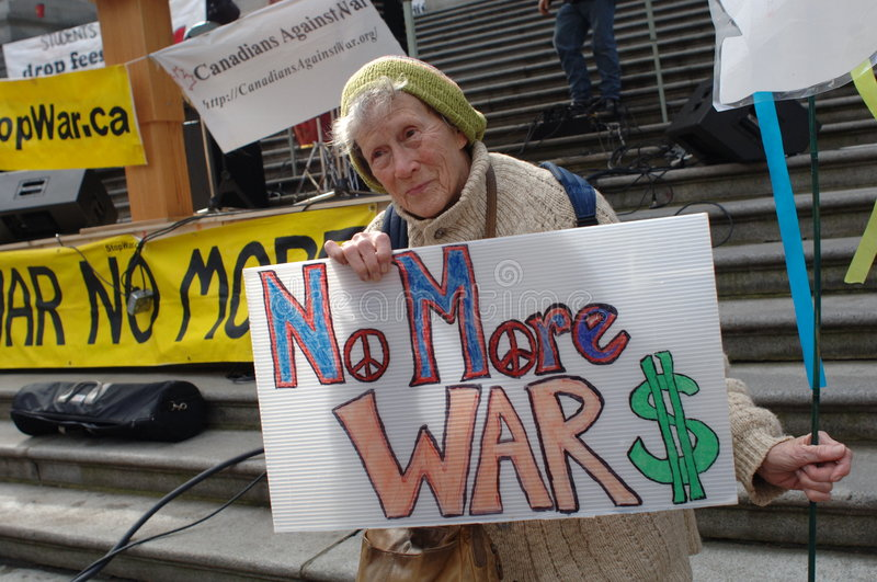 Download Iraq war protest editorial stock image. Image of portrait - 4605089