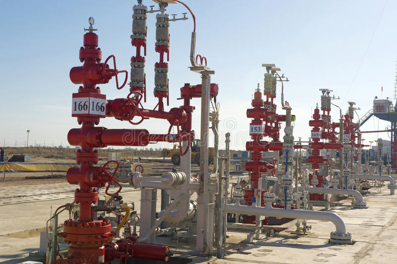 IRAQ West Qurna. 2 oil wells 24 04 2012 royalty free stock photography